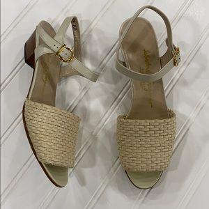 Salvatore Ferragamo Cream Sandals - sz 7.5 AA